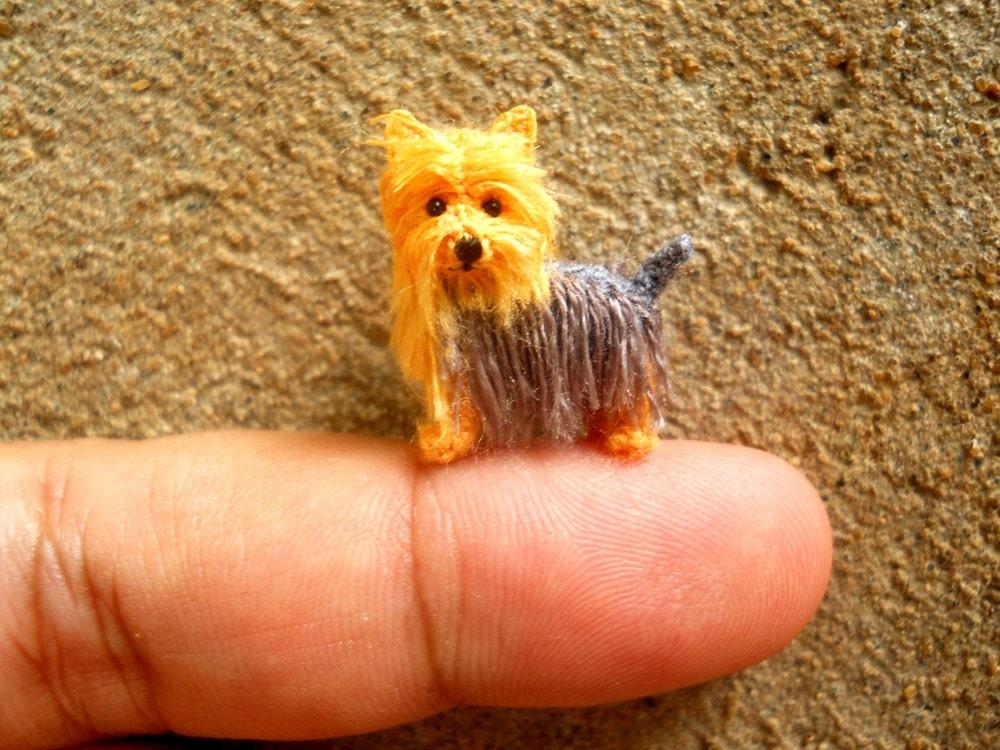 Miniature Yorkshire Terrier Tiny Crochet Miniature Dog Etsy