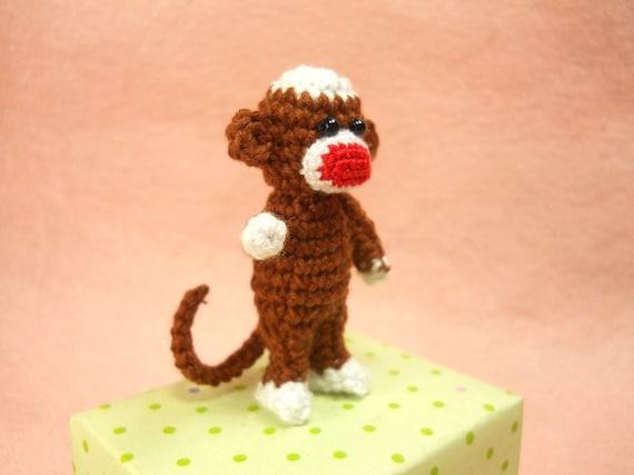 Häkeln Sie Sock Monkey 2 Zoll Amigurumi Miniatur Affe | Etsy