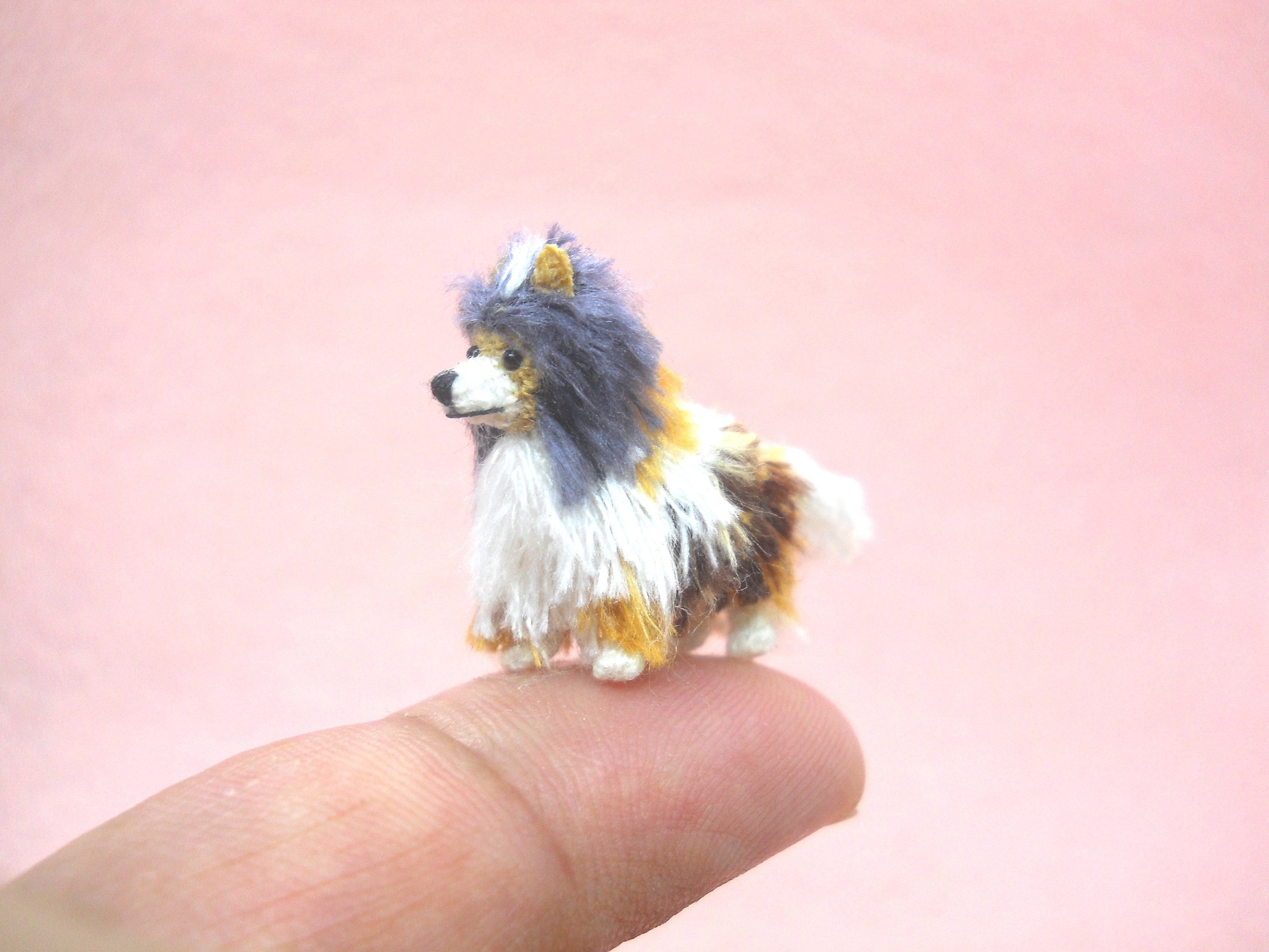 Miniature Crochet Sheltie Shetland Sheepdog Miniature Dog Etsy