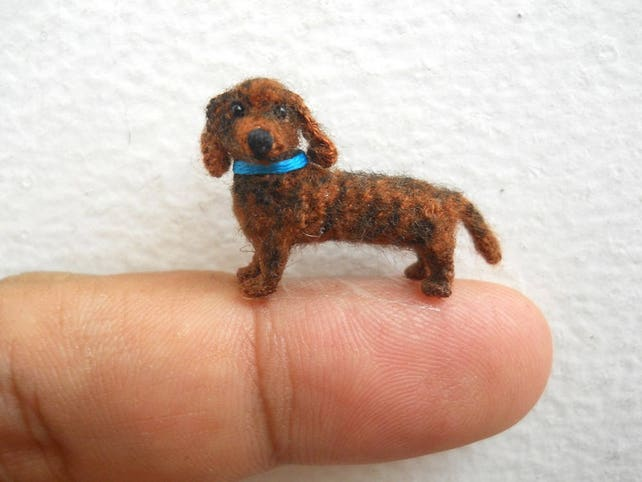 Mikro-Dackel Sachen Tier kleine häkeln Tier Miniatur Hund | Etsy