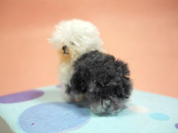 Old English Sheepdog Tiny Crochet Miniature Dog Stuffed Animals Made To Order