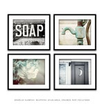 Rustic Bathroom Wall Decor. Farmhouse Bathroom Decor. Bathroom Art Prints. Country Bathroom Wall Art. Set of 4 Prints. Set of 4 Canvases.