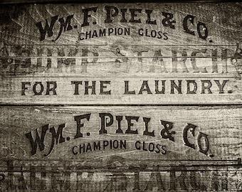 Sepia Laundry Decor, Sepia Print, Sepia Print, Sepia Art, Sepia Tone Print or Canvas Art, Laundry Room Art, Rustic Laundry Decor.