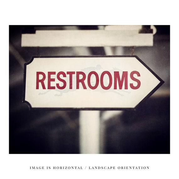 Décoration murale salle de bain rustique, toilettes signe impression,  Saratoga Race course impression ou toile art, salle de bain cheval, pays  salle ...