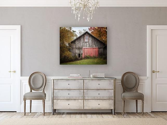 Canvas Art Barn Landscape Barn Art Canvas Country Decor Etsy