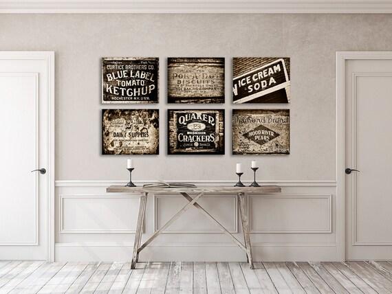 Kitchen Decor, Sepia Kitchen Wall Decor, Kitchen Decor Print Set, Black and  Brown, Farmhouse Kitchen Wall Art, Vintage Kitchen Art.