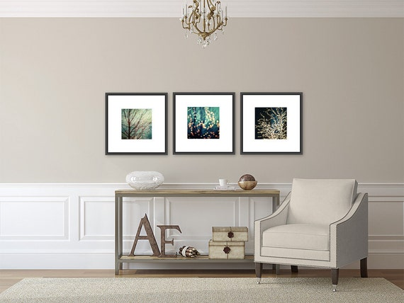 Aqua Decor Set Of 3 Prints Or Canvas Art For Ikea Ribba Etsy
