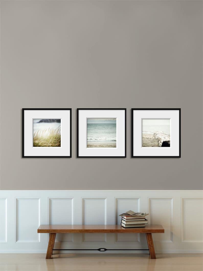 Beach Decor Set for IKEA RIBBA, Set of 3 Blue Beach Prints or Canvas Set  for Ribba frames, Square Prints, Beach Wall Art, Ocean Art
