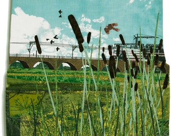 Walthamstow Marshes, 11 x 11 inches, Print on paper