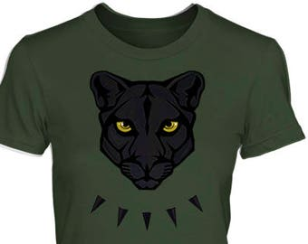 cd770ee958d9 PANTHER Women's Style Shirt – All Sizes & Colors, Fitted Fashion Cut Tee –  Fierce Black African Jungle Cat