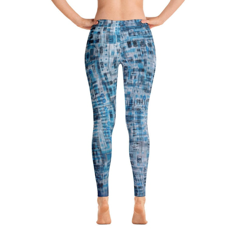 Full Length or Capri Schema Blue Leggings
