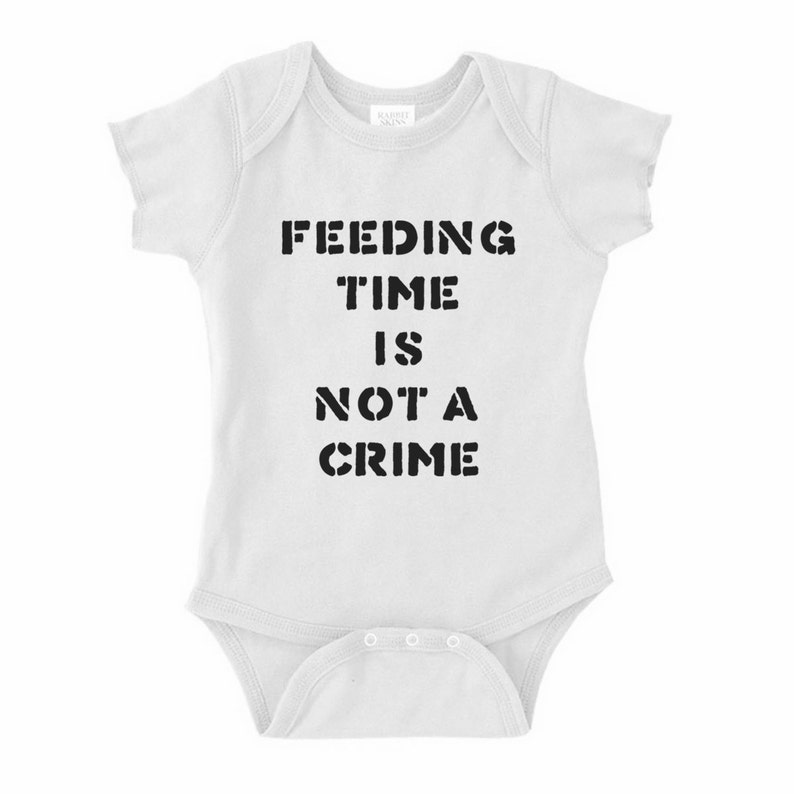 Feeding Time is Not A Crime Infant OnePiece Bodysuit Creeper Crawler
