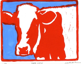 Red Cow woodcut