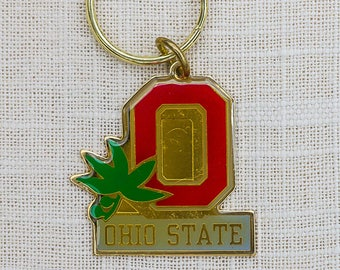Vintage Ohio State Key Chain OSU Buckeyes Gold Red Keychain Key FOB Key Chain Brass OSU KeyChain Ohio Gifts Columbus Ohio State Gift 7GG