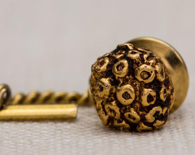 Merrin 14k Gold Tie Tack Lapel Pin Tie Clip Vintage Men's Accessory 7WW