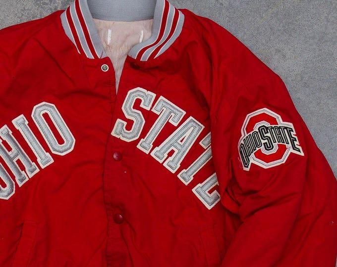 Vintage Ohio State Jacket OSU Football Columbus Ohio Buckeyes Vintage Coat | Scarlet & Gray 1980s 1990s Logo Gear | Vintage Buckeyes| 7U