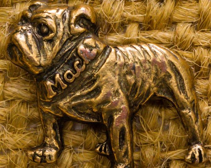 Gold Bulldog Mack Vintage Lapel Pin Bull Dog Silhouette Button Vtg Pin 7AN 1