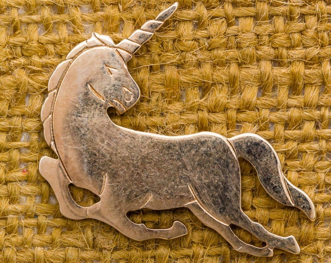 Unicorn Lapel Pin Vintage Tie Tack Gold Men's Accessories Collar Stay Add On Avon Brand 7WW