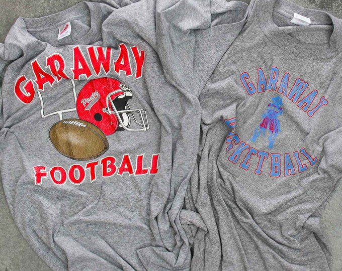 Garaway Pirates T-Shirts Short Sleeve Football Long Sleeve Basketball Sugarcreek Ohio High School Vintage T Shirts XXL 7W