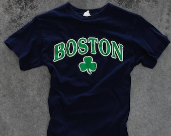 Vintage Boston Celtics T Shirt Size SMALL Basketball Tee | 1970s 80s Delta Pro Weight 7W