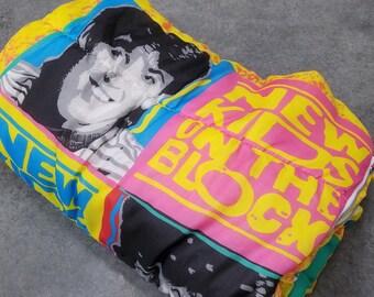 New Kids On The Block Sleeping Bag Vintage 1990 NKOTB Hot Pink Lining Twin Size RARE Original 90s 1990s Retro Pop Original New Kids Band