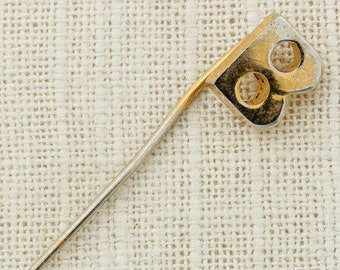 """Letter B Stick Pin """"B"""" Initial Vintage Stickpin Gold 6Y"""