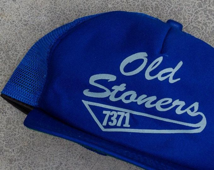Old Stoners Trucker Cap Blue Epic Broken In Vintage Snapback Hat 90s Baseball Style 7ZZ