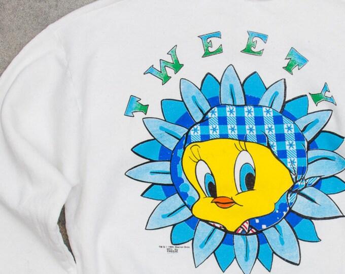 1995 Tweety Sweatshirt Oversized Made in USA Fleece 50/50 Cotton Poly Blend Size XXL 7BD
