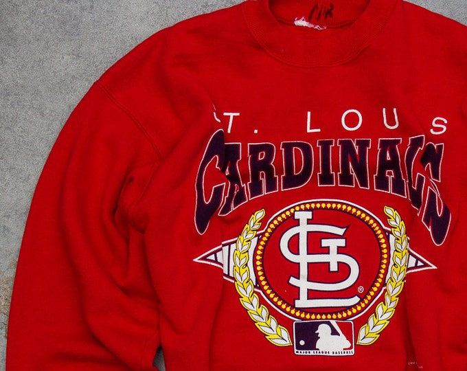 1990s Cardinals Sweatshirt 1993 St. Louis Cardinals Baseball Missouri Vintage Fleece Size XL 7NN