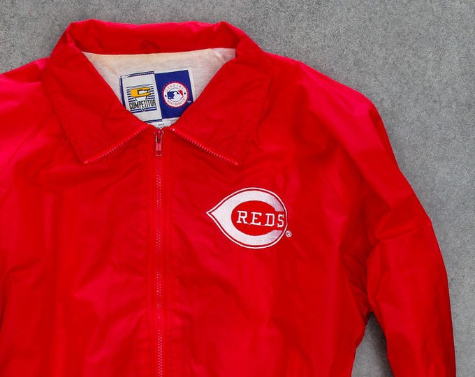 Cincinnati REDS Lightweight Jacket Red Windbreaker | Ohio Baseball Size XXL | 7ND