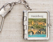 Vintage Germany Keychain Heidelberg Germany Photo Album Vintage Keychain Accordion Style Pictures Landmarks Silver Clasp Key FOB 7KC