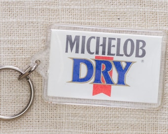 Michelob Dry Vintage Keychain Beer Key FOB Key Chain 7KC