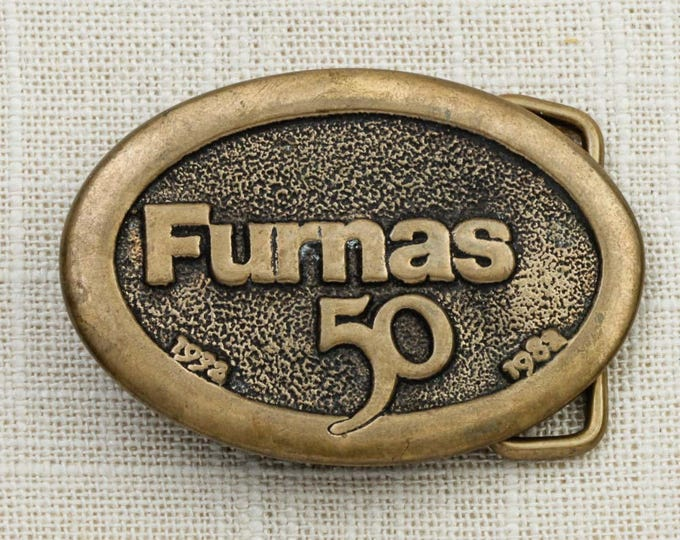 Furnas 50 Belt Buckle Oval Small 1932 to 1982 Limited Edition Vintage Belt Buckle 7F