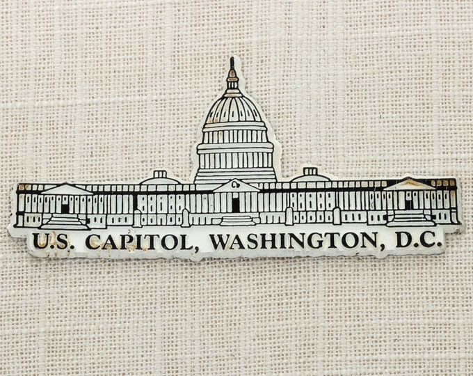 Washington D.C. Vintage Capital City Magnet | Travel Tourism Summer Vacation Memento | USA America US Capitol | Refrigerator 5S
