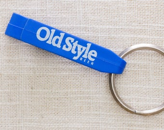 Old Style Beer Vintage Keychain Blue Bottle Opener Key FOB Key Chain 7KC