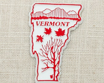 Vermont Vintage State Magnet | Maple Syrup Travel Tourism Summer Vacation Memento USA Northeast America New England Fridge Refrigerator 5S