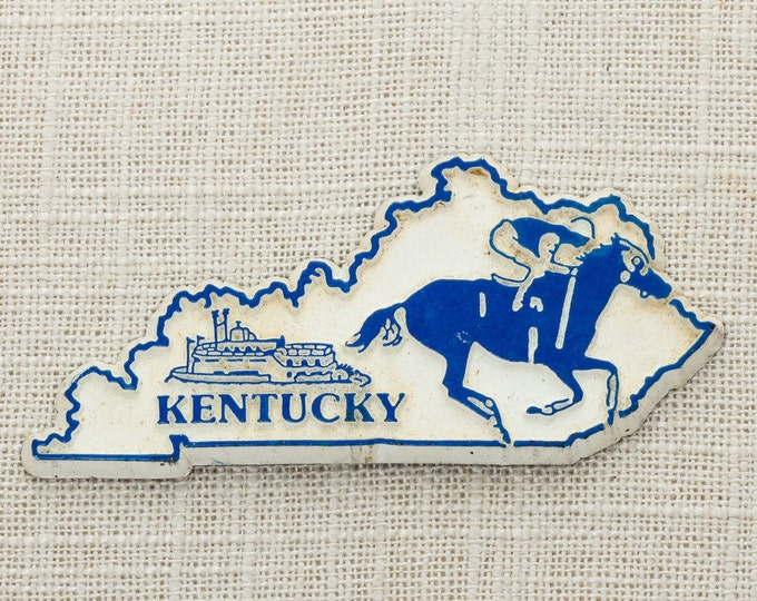 Kentucky Vintage State Silhouette Magnet Derby Blue Grass Travel Tourism Summer Vacation Memento USA America Wildcats Fridge Refrigerator 5S
