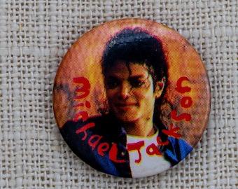 Vintage Michael Jackson Button MJ Vintage Pin-Back Button Vtg Pin 7QQ