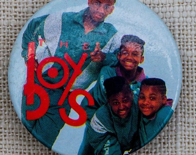 1990 The Boys Rapper Button Vintage Hip Hop Music Concert Pin-Back Button 7QQ