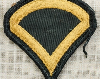 US Army Vintage Patch Military Vietnam Era Private 1st Class E3 Uniform Sew on