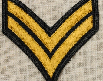 US Army Vintage Patch Corporal Chevron CPL E-4 Uniform Sew on 7Z