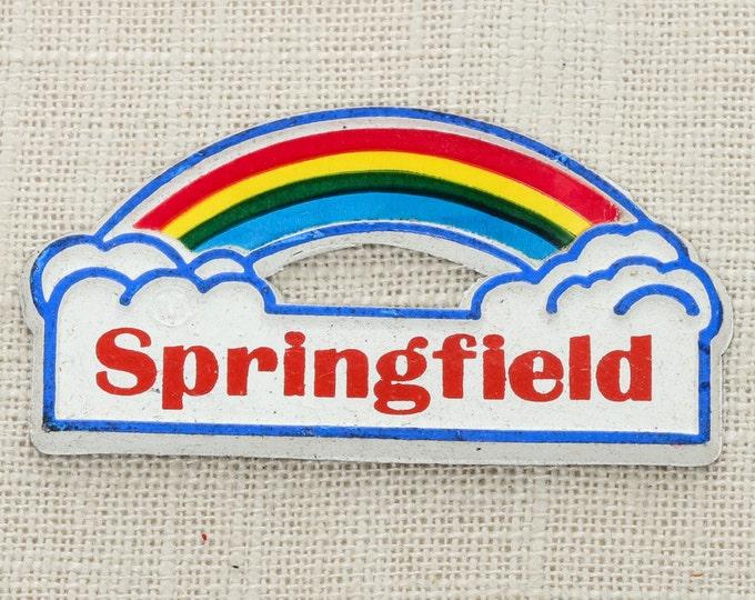 Vintage Rainbow SPRINGFIELD Magnet Illinois Massachusetts Ohio Travel Tourism Gift Made in USA America Fridge Rainbow Locker School 5S