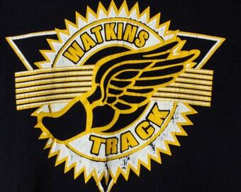 Small Vintage Distressed Watkins Track T Shirt Ohio | 5AA