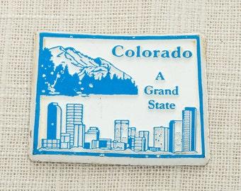 Colorado Vintage State Magnet | Travel Tourism Denver Summer Vacation Memento | USA America Rocky Mountains | Fridge | Boulder 5S