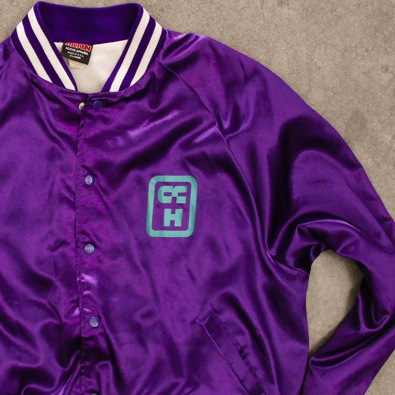 Purple Light Weight Jacket Vintage Columbus Community Hospital image 0