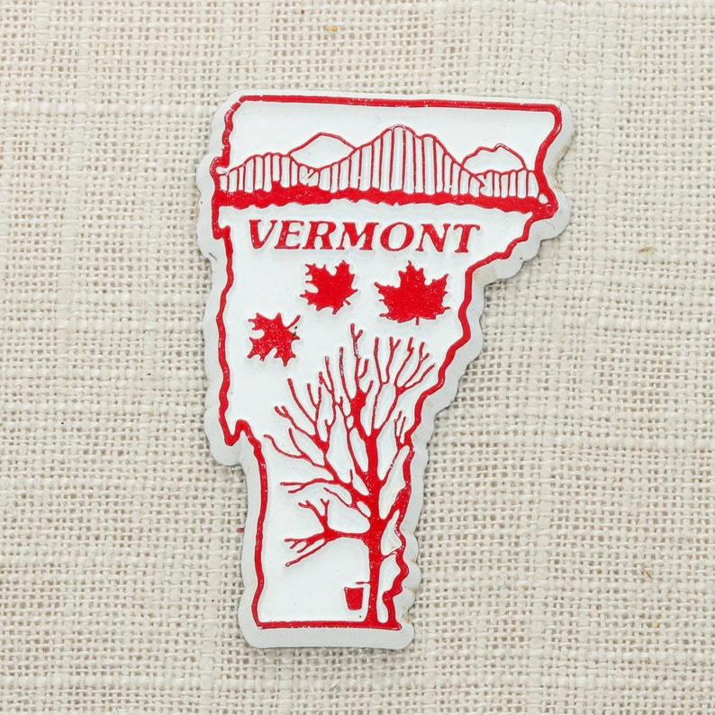 Vermont Vintage State Magnet  Maple Syrup Travel Tourism image 0