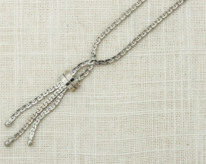 Silver Chain Vintage Tassel Layering Necklace Y Necklace Costume Jewelry 16D