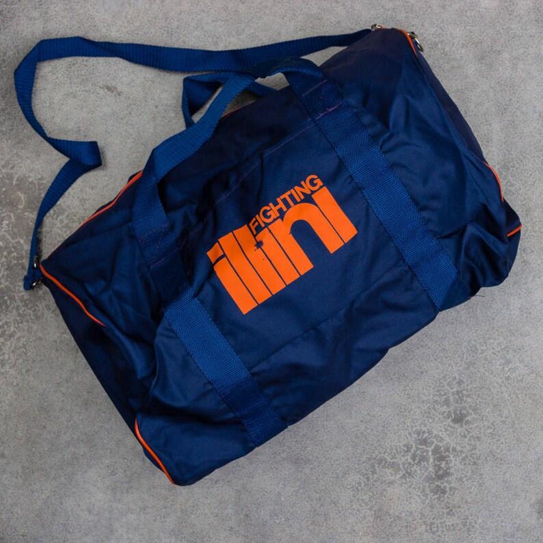228647eea3 Vintage Illinois Tote Bag Fighting Illini Bag Illinois Vintage