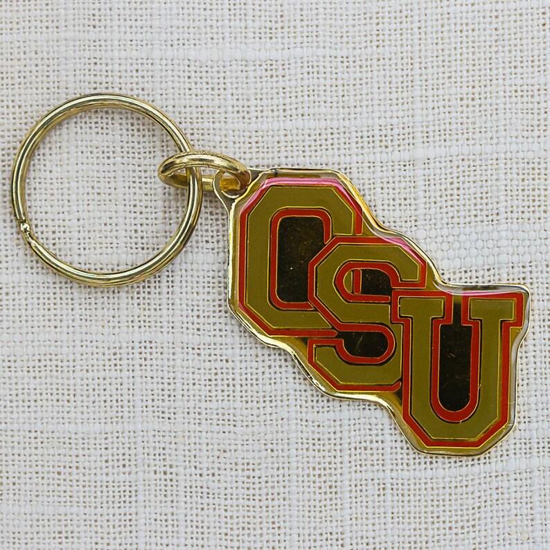 Vintage OSU Keychain Ohio State Gift Buckeyes Key FOB Chain image 0