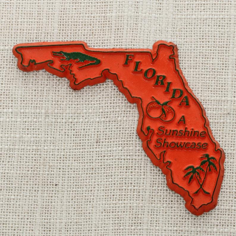 Florida Vintage State Magnet  A Sunshine Showcase image 0